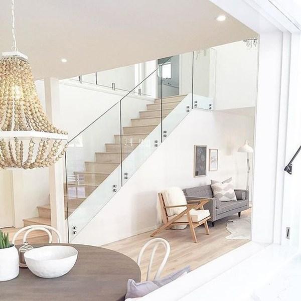 20 Modern Glass Stair Railing Ideas Homemydesign   Modern Glass Stair Railing   Dark Wood   Banister   Wall Mounted   Cost   Basement