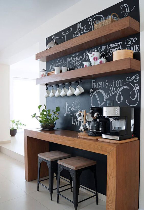 coffeestationfurniturewithchalkboardideas