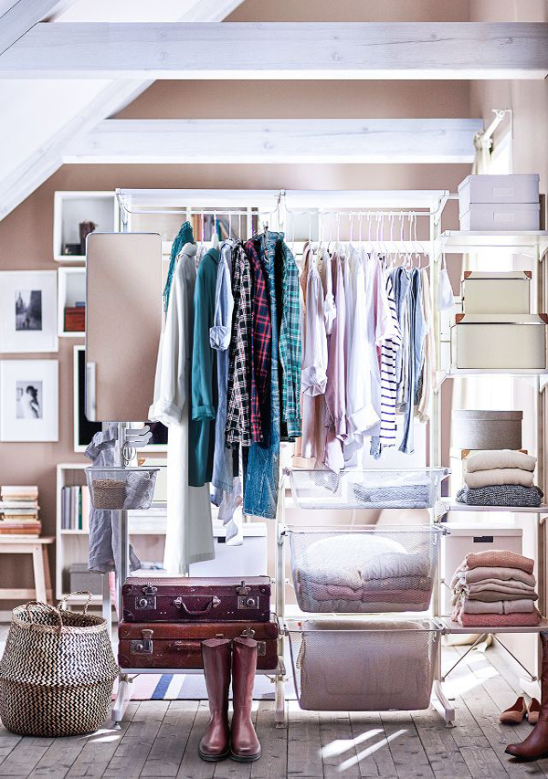 Fashionable Open Wardrobe To Simple Organizing  Home Design And Interior