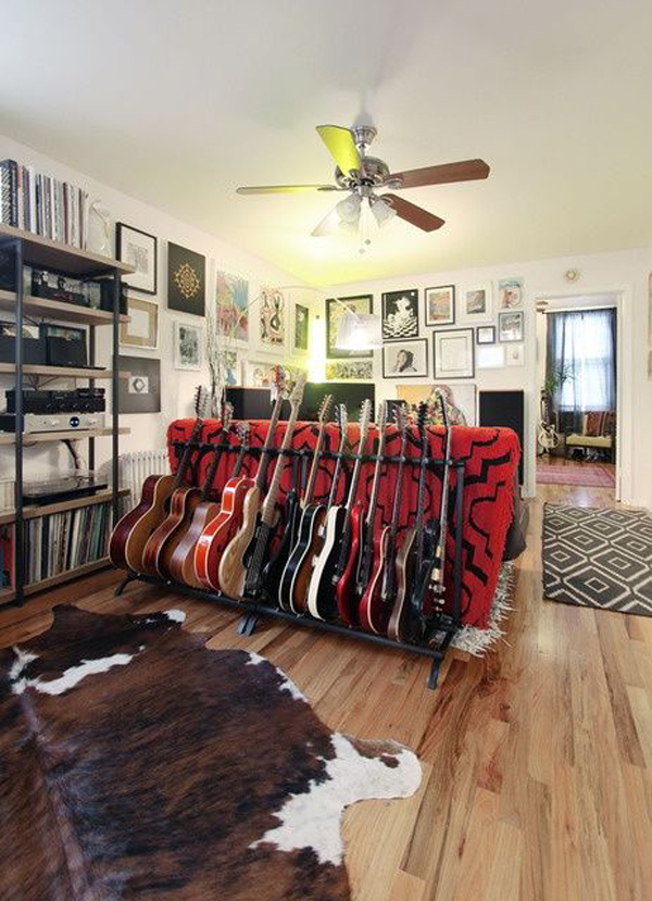 20 Cool Ways To Display Your Guitar Collections Home Design And Interior