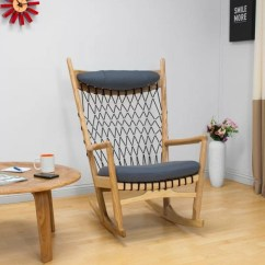 Woven Rocking Chair How To Build A Lifeguard Modern With Coffee Table Home Design And Interior