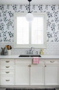 20 Beautiful Wallpaper Kitchen Backsplashes With Nature ...