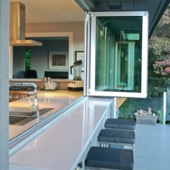 Outdoor Kitchen Bar Counter Height Tables Cool Grey Indoor With Dining Area