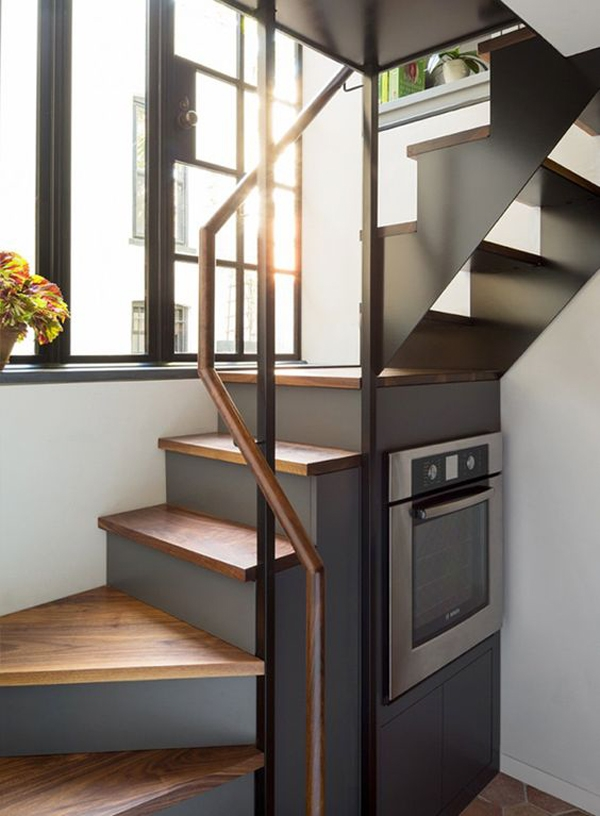 25 Awesome Staircase Design For Small Saving Spaces Homemydesign | Staircase For Small House | Indoor | Cupboard | Narrow | Duplex | Square