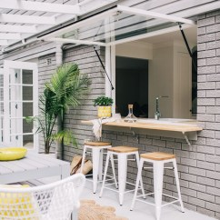 Outdoor Kitchen Bar Undermount Farmhouse Sink Lovely Indoor With Dining Space Home Design