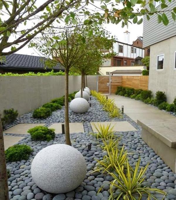 35 Modern Landscape Design Ideas For Minimalist Courtyard Garden Homemydesign