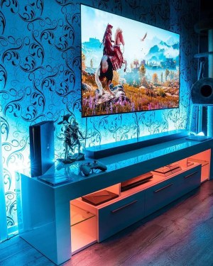 futuristic gaming rooms instagram homemydesign wall gusta cave comentarios источник gamer jamescharlespalette