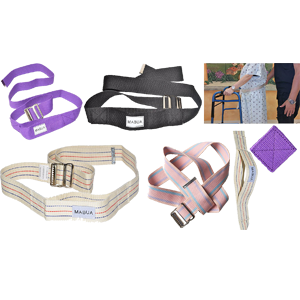Flash-Sale!-MABUA-Physical-Therapy-Gait-Belt-with-Metal-Buckle