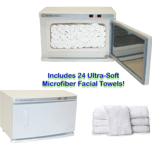 High-Capacity-Hot-Towel-&-UV-Sterilizer-Cabinet