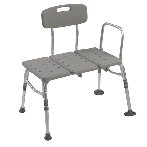 Plastic-Tub-Transfer-Bench-with-Adjustable-Backrest-Gray