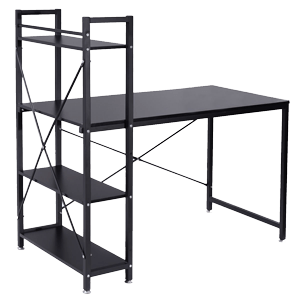 TANGKULA-computer-desk-compact-desk-with-4-shelves-Home-office-study-table-(Black)