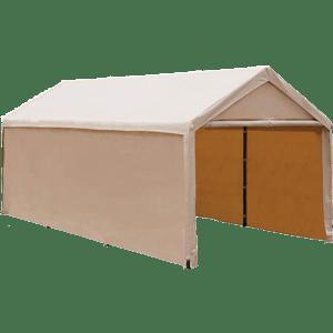 Abba-Patio-ft-Heavy-Duty-Beige-Carport-Car-Canopy-Versatile-Shelter-with-Sidewalls
