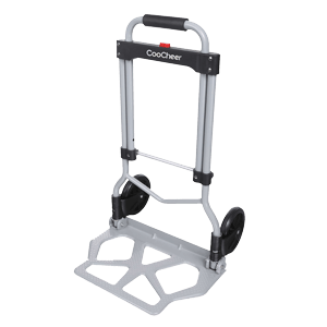 Coocheer-Aluminum-Folding-Portable-Luggage-Cart-Lightweight-Travel-Hand-Truck