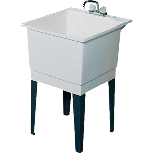 Swanstone-PT-1-010-22-Inch-by-25-Inch-Floor-Standing-Single-Laundry-Tub