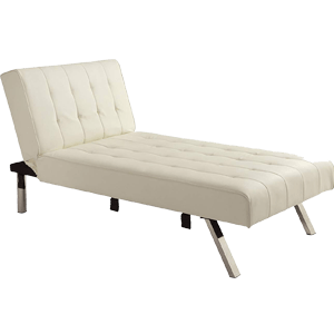 DHP-Emily-Linen-Chaise-Lounger,-Stylish-Design-with-Chrome-Legs