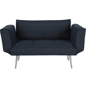 DHP-Euro-Sofa-Futon-Loveseat-with-Chrome-Legs-and-Adjustable-Armrests