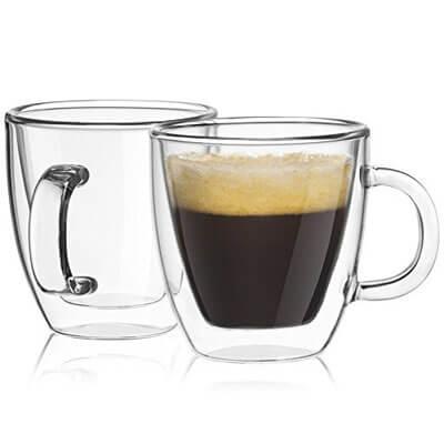 65f175505975 JoyJolt Savor Double Wall Insulated glasses Espresso Mugs Set