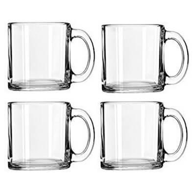 Libbey Crystal Coffee Mug Warm Beverage Mugs Set