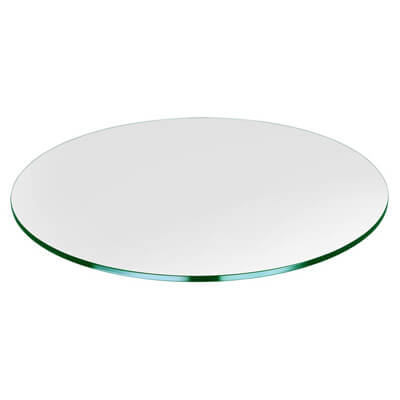 Round Glass Table Top Custom Annealed Clear