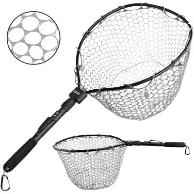 "PLUSINNO Fly Fishing Net, 16"" x 13"" Fish Landing Net,"