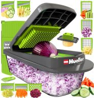 Mueller Austria Pro-Series 8 Blade Egg Slicer, Onion Mincer Chopper