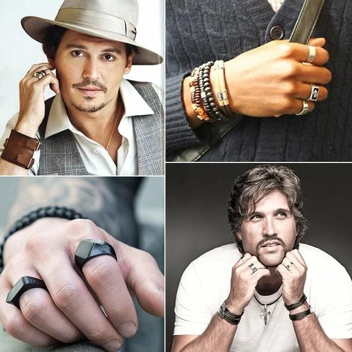 2 anéis masculinos homens que se cuidam