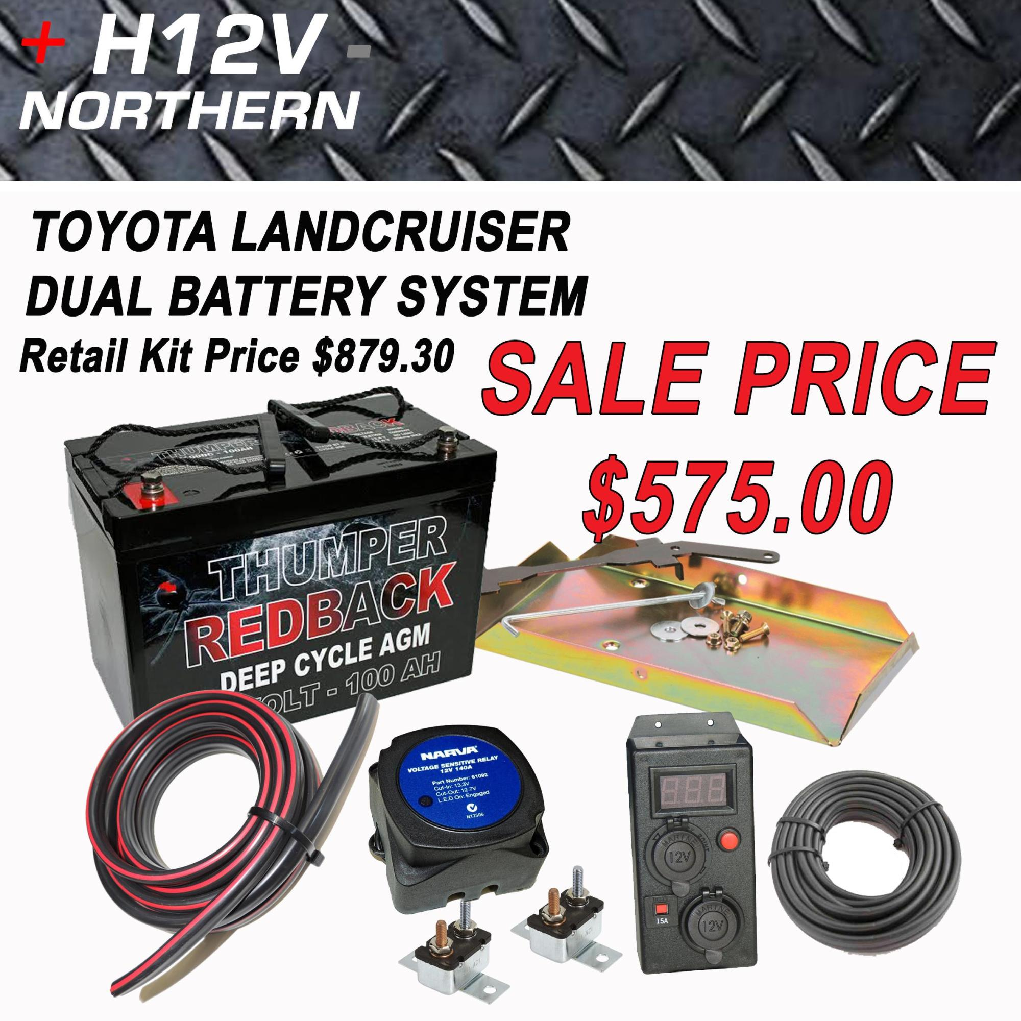 hight resolution of toyota landcruiser 100 series dual battery kit