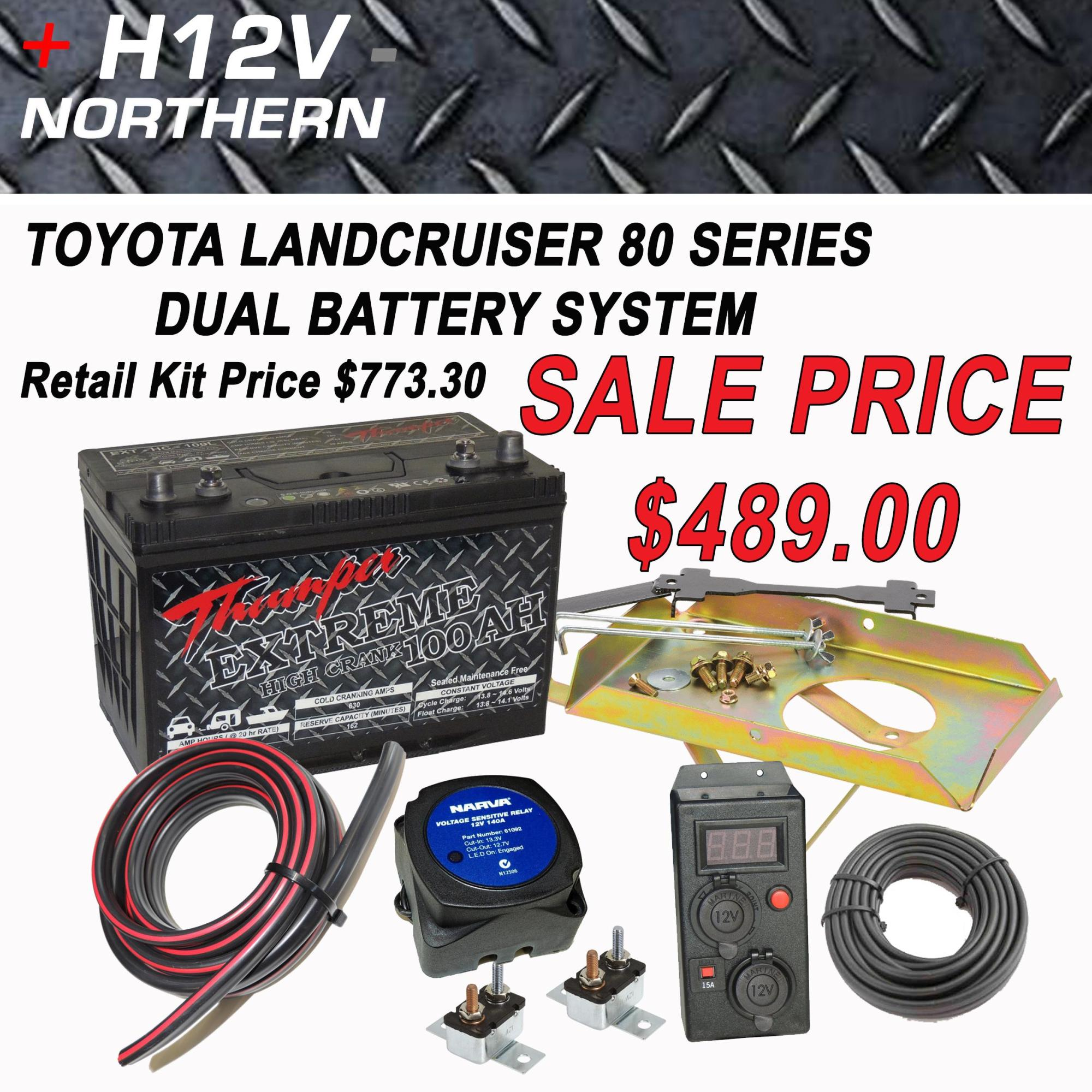 hight resolution of toyota landcruiser 80 series dual battery system