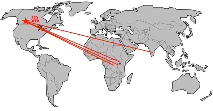red deer home of hope homeofhope brian thomson kenya india rwanda map impact internationally international