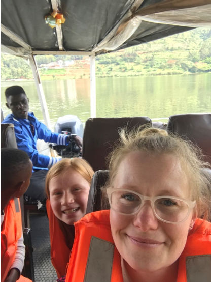 klassen family 5 five africa rwanda home of hope lacey jacob jake eleah brianca blaze fun safari trip mission tour hoh brian thomson blog post 2019 boat ride kigaga