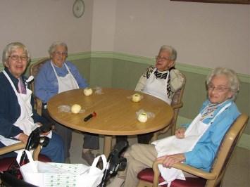 Our apple pie baking team