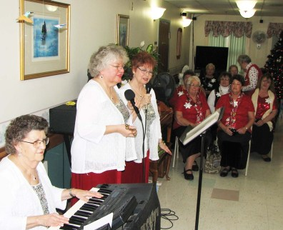 Present Company performing for the Rebekahs decorating team