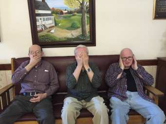 Emile Marquis - Speak no evil, Adrian Legere - See no evil, and Ed Carr - Hear no evil