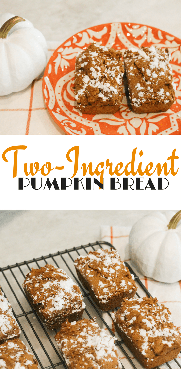 Two Ingredient Pumpkin Bread