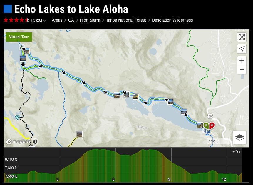 Backpacking to Aloha Lake