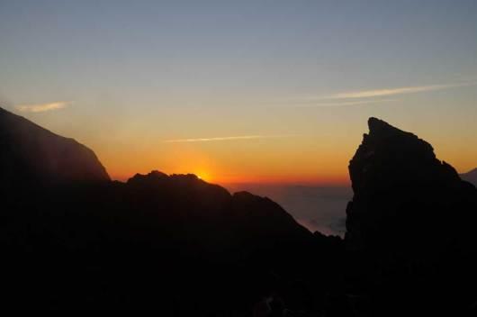 Sonnenaufgang am Agung