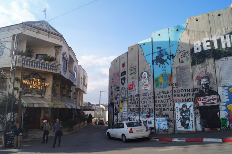 The Walled Off Hotel in Bethlehem