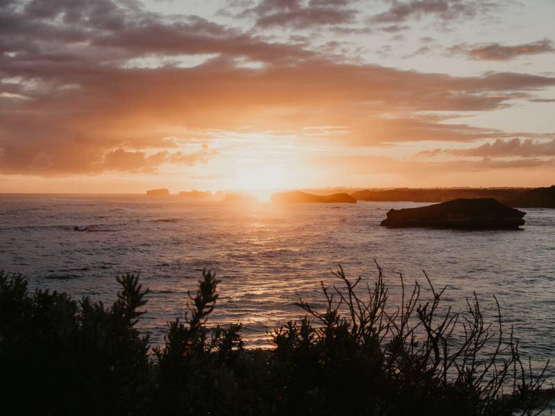 Sonnenuntergang Great Ocean Road