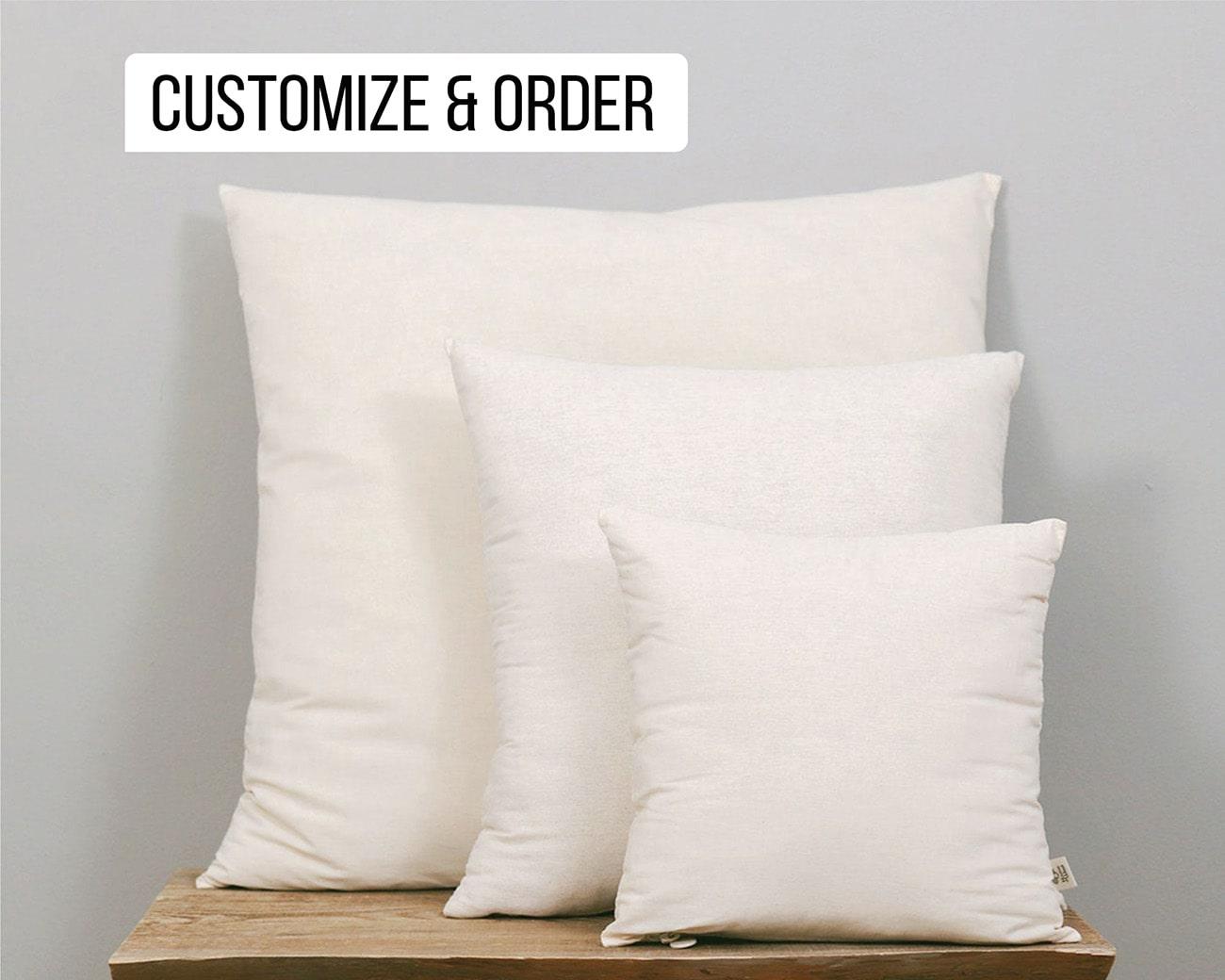 wool throw pillow insert