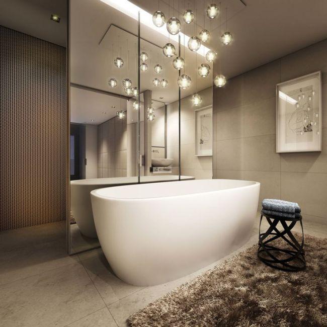 33 Captivating Bathroom Chandelier Ideas  Homeoholic