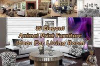 35 Elegant Animal Print Furniture Ideas For Living Room ...