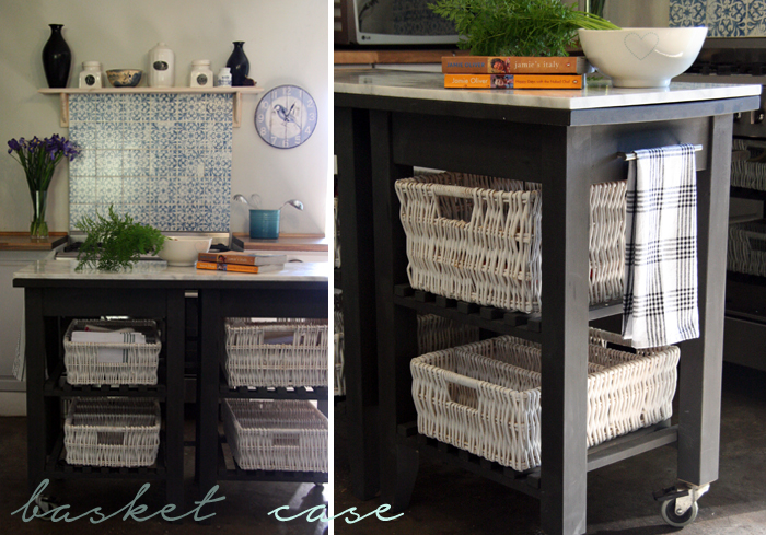 DIY Kitchen Island Marble Top basket case