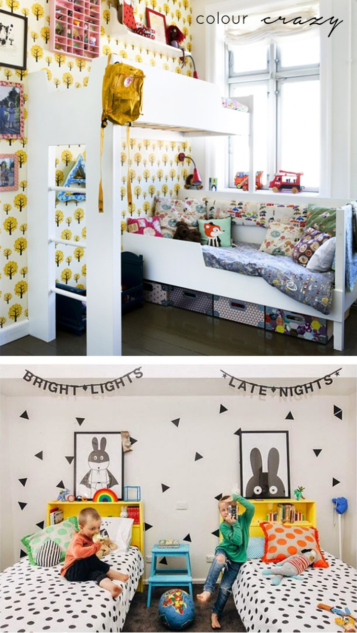 small kids rooms colour crazy