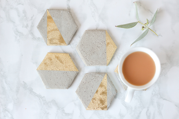 Diy cement coasters super easy tutorial homeology for How to make concrete coasters