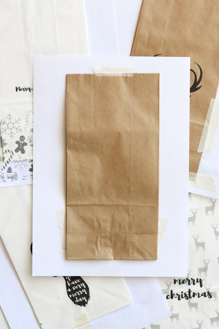 Print DIY custom gift bags at home