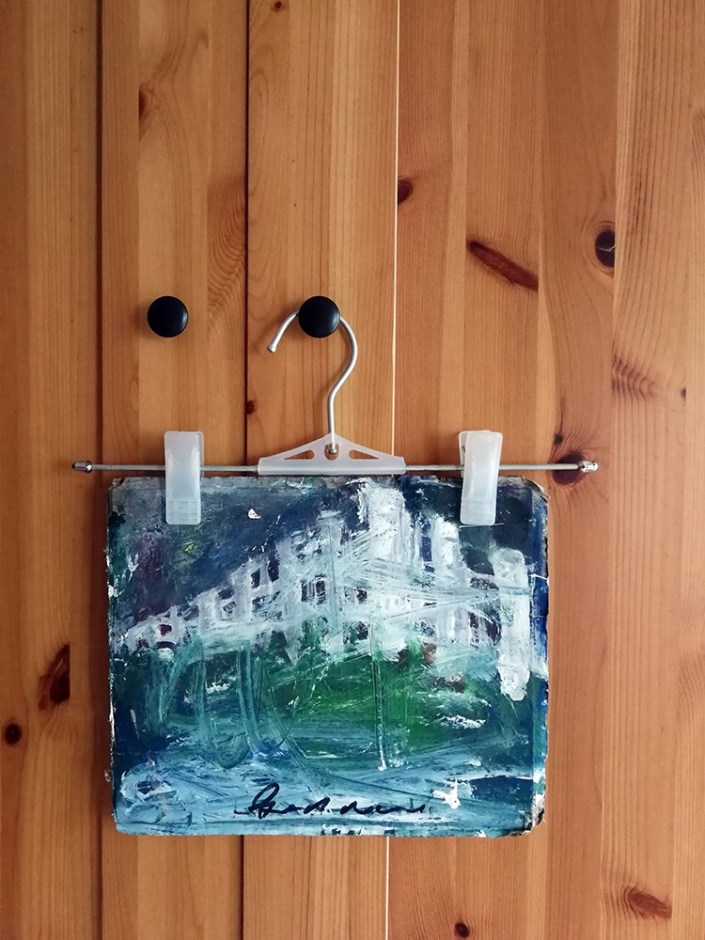 painting on hanger