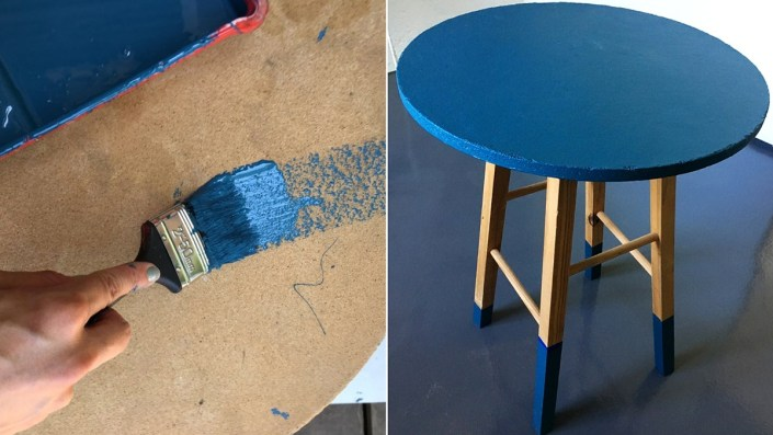 home makeover painted furniture side table
