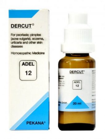 Adel 12 Dercut homeopathy medicine for psoriasis, pimples, herpes, zoster, eczema, skin diseases