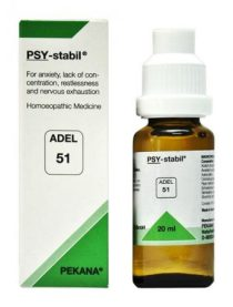 ADEL 51 PSY-stabil homeopathic medicine mental and emotional stresses, anxiety, poor concentration, restlessness, nervous exhaustion, mood swings, school strain,examination anxiety