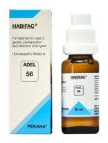 ADEL 56 HABIFAC homeopathic drops for treating body infections due to genetic disposition